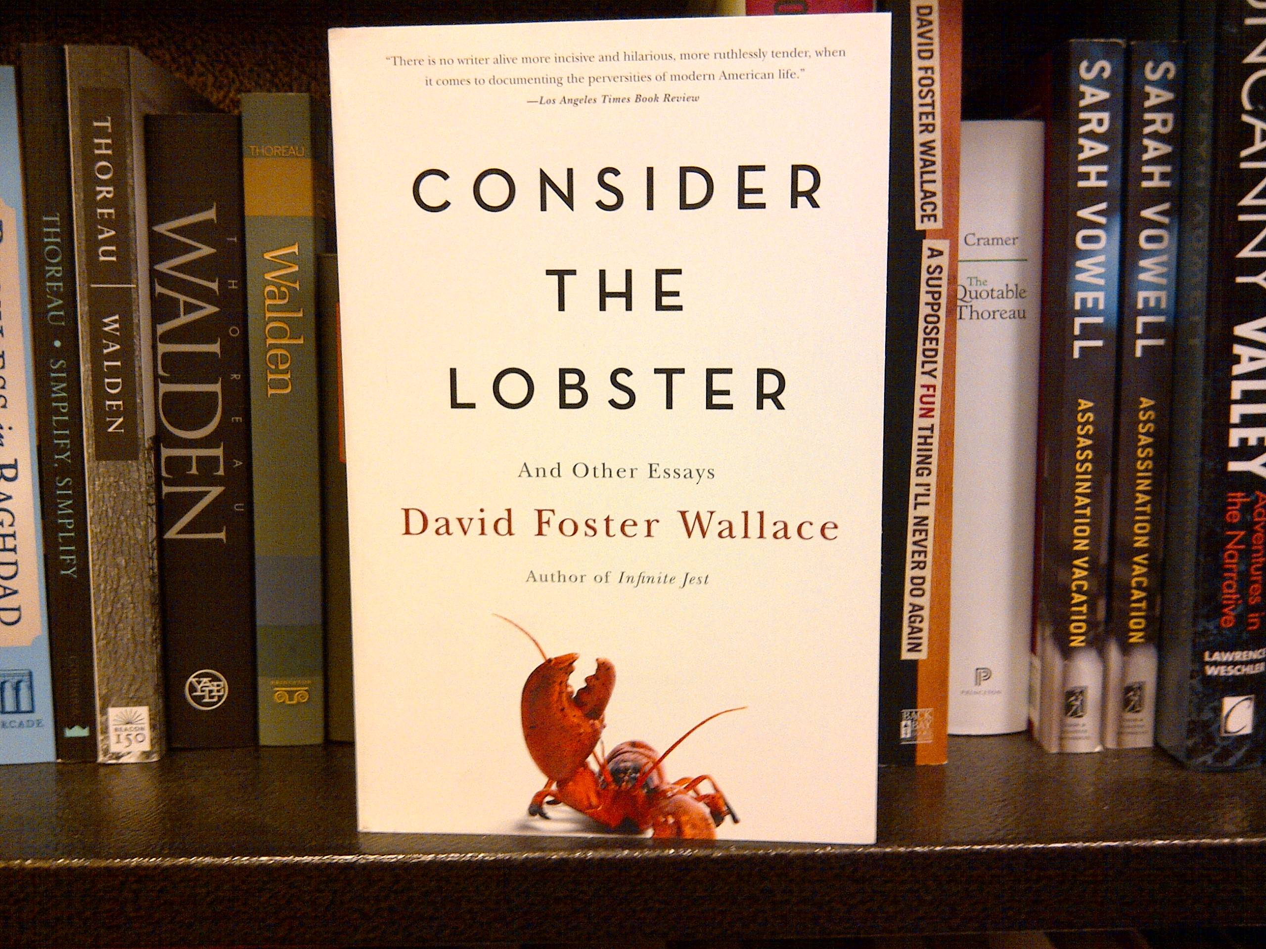 consider the lobster essay consider the lobster and other essays david foster wallace the hipping postlast year