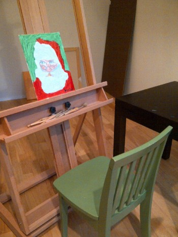 Santa at easel