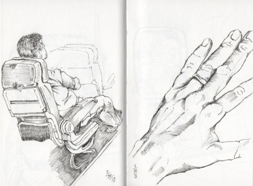 Man in Seat & Hand